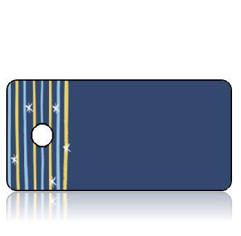 Create Design Key Tags Yellow Blue with White Stars