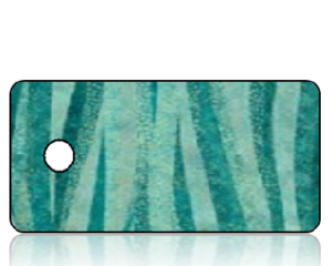 Create Design Key Tags Teal Wave Stripes