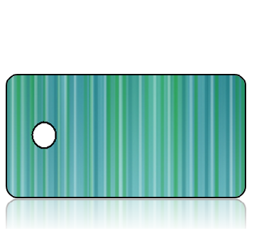 Create Design Key Tags Aqua Stripes
