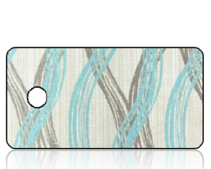 Create Design Key Tags Aqua Taupe Wave Stripes