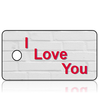 I Love You Key Tag
