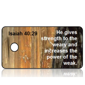 ScriptureTagD101 - Isaiah 40 vs 29 - NIV - Rock Wall Strength