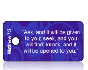 Matthew 7:7 Bible Scripture Key Tags
