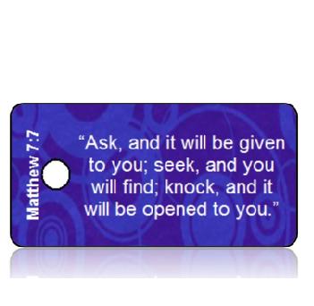 Matthew 7:7 Bible Scripture Key Tags