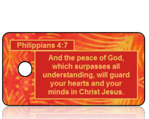 Philippians 4:7 Bible Scripture Key Tags