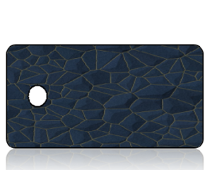 Create Design Key Tags Navy Blue Stone