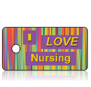 I Love Nursing Key Tags