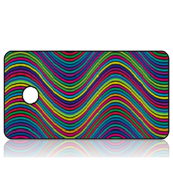 Create Design Key Tag Colorful Modern Waves