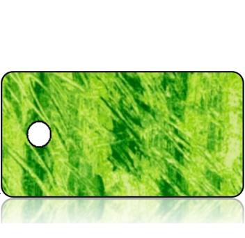 Create Design Key Tag Lime Green Scratch