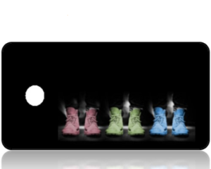 Create Design Key Tag Pastel Shoes