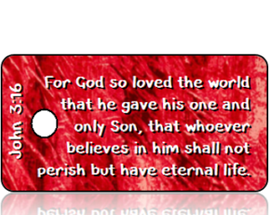 John 3:16 Bible Scripture Tags
