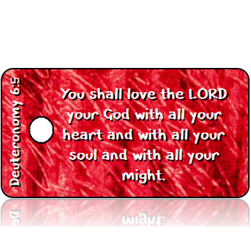 Deuteronomy 6:5 Bible Scripture Tags