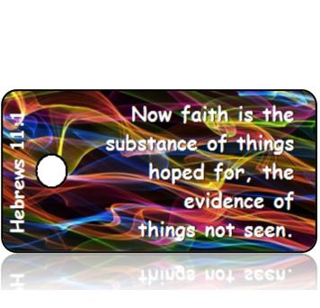 ScriptureTagD122 - KJV - Hebrews 11 vs 1 - Colorful Sound Waves