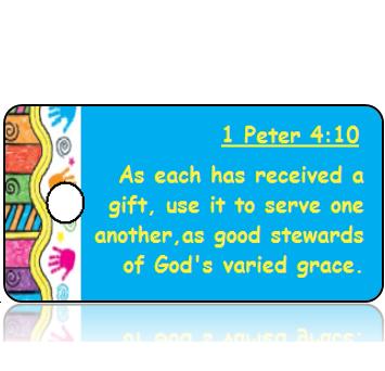 1 Peter 4:10 Bible Scripture Tags