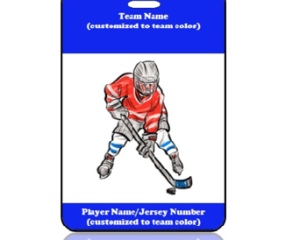 Sports Bag Tag Hockey Player
