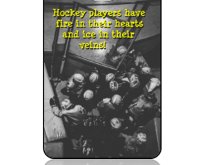 Sports Bag Tag Hockey Team Quote