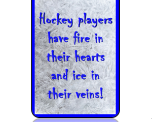 Sports Bag Tag Ice Hockey Quote