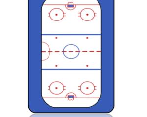 Sports Bag Tag Hockey Ice Rink