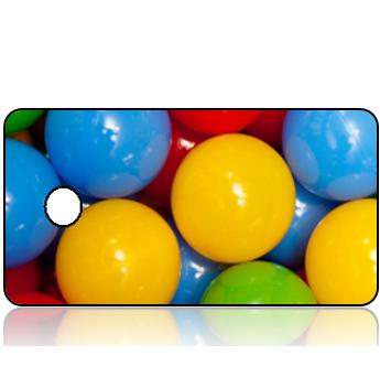 Create Design Key Tag Primary Color Balls
