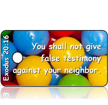 Exodus 20:16 Bible Scripture Tags