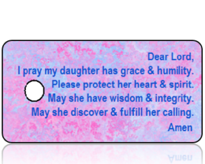 Daughter's Prayer Key Tags