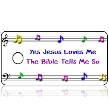 Jesus Loves Me Bible Scripture Tag
