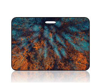 Create Design Bag Tag Fall Forest Treetops