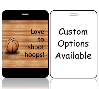 BagTag02-CO - Love to Shoop Hoops Basketball Bag Tag - Custom Options