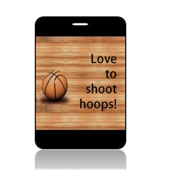BagTag02- Love to Shoop Hoops Basketball Bag Tag - Main Image