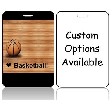 BagTag05-CO - I Love Basketbll Bag Tag - Custom Options
