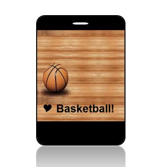BagTag05 - I Love Basketbll Bag Tag - Main Image