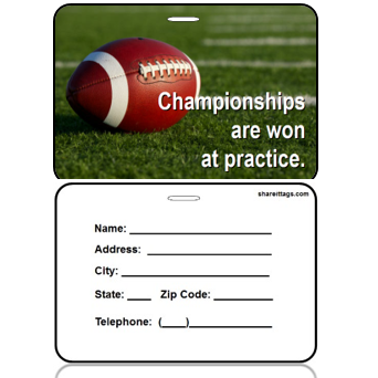 BagTag16-CI - Football - Champtionships Won at Practice - Contact Info