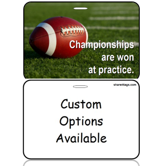 BagTag16-CO - Football - Champtionships Won at Practice - Custom Options