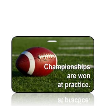 BagTag16 - Football - Champtionships Won at Practice - Main Image