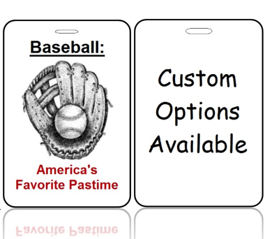 BagTag21-CO - America's Favorite Pastime - Custom Options Available