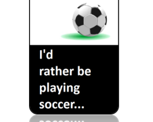 Play Soccer Bag Tag - Main Image