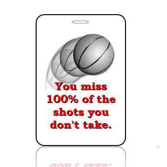 BagTag23 - Basketball Shots You Miss 100% - Main Image