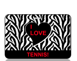 I Love Tennis Bag Tag - Main Image