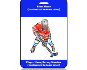 Sports Bag Tag Hockey Player