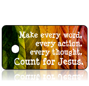 Inspiration26 - Make every word...Count for Jesus - Autumn Leaves