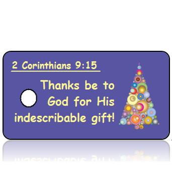 ScriptureTagC21 - 2 Corinthians 9 vs 15 - Modern Christmas Tree