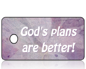 God's Plans are Better - purple antique paper