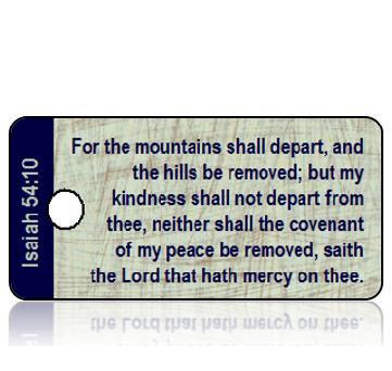 ScriptureTagD164- Isaiah 54 vs 10 - KJV - Blue Brown Scratch Wallpaper