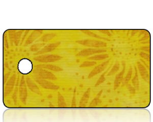 Create Design Holiday Key Tag Golden Sunflowers