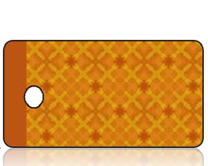 Create Design Holiday Key Tag Orange and Gold Diamonds