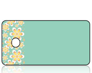 Create Design Holiday Key Tag Golden Daisy Border