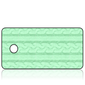 Create Design Holiday Key Tag - Mint Green Sweater