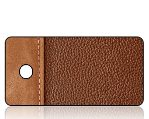 Create Design Brown Leather Binder Key Tag