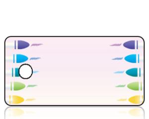 Create Design Blue Green Yellow Crayons Key Tag
