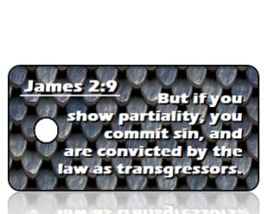 James 2 vs 9 NKJV Armor Scripture Tag